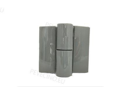 Kairinis pilko plastiko vyris WC durims
